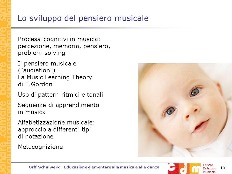 Lo sviluppo del pensiero musicale