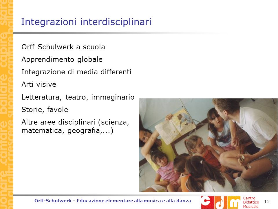 Integrazioni interdisciplinari