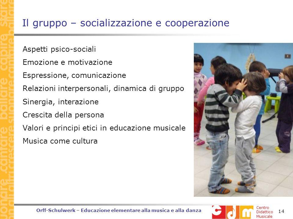 Il gruppo – socializzazione e cooperazione