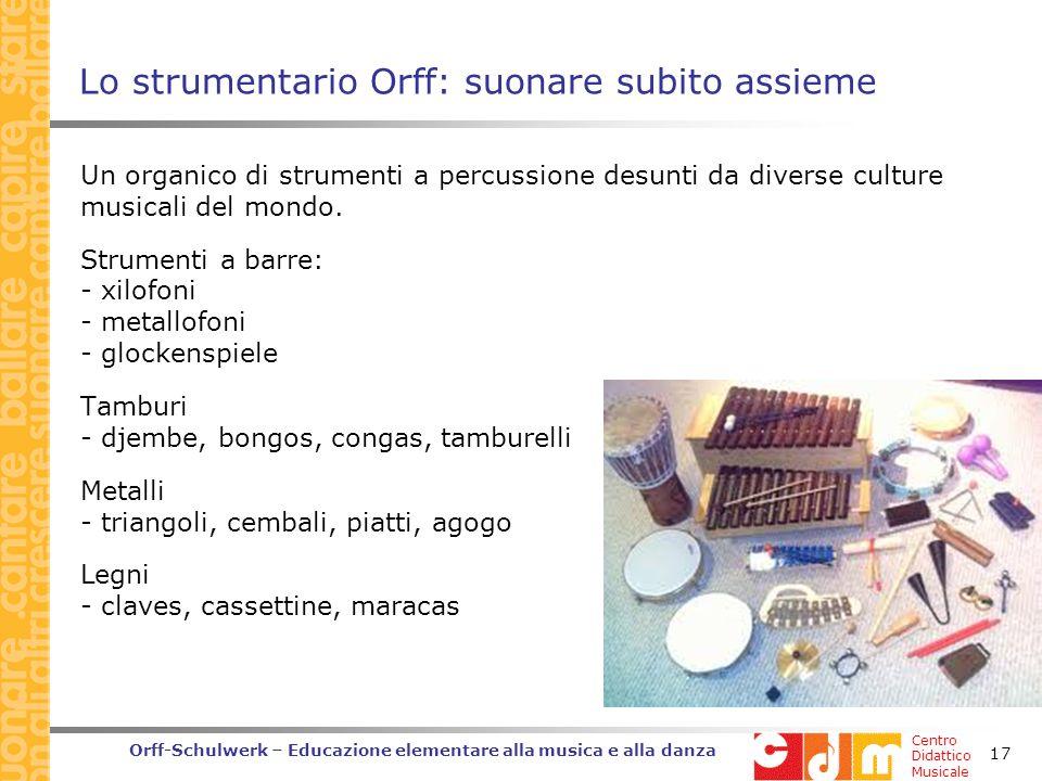 Lo strumentario Orff: suonare subito assieme