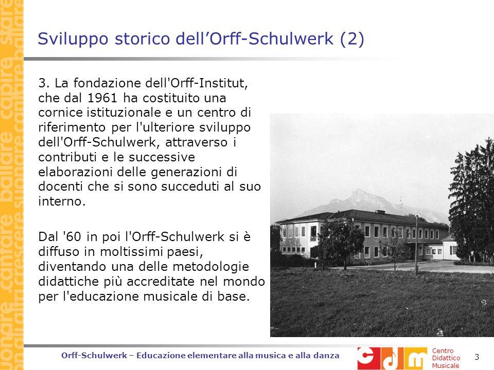 Sviluppo storico dell'Orff-Schulwerk (2)