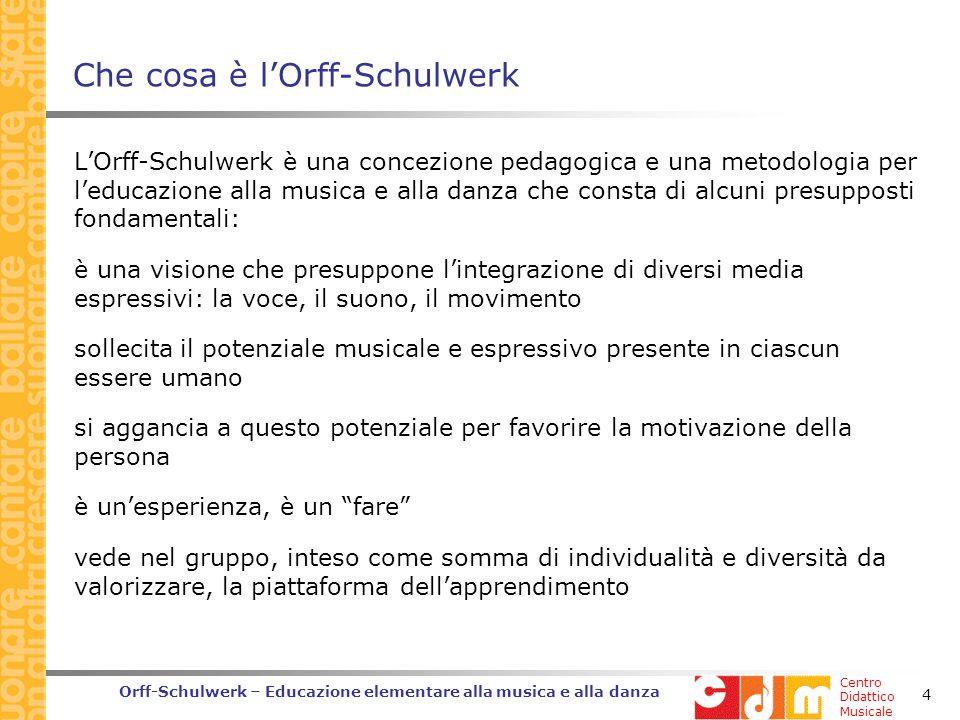 Che cosa è l'Orff-Schulwerk