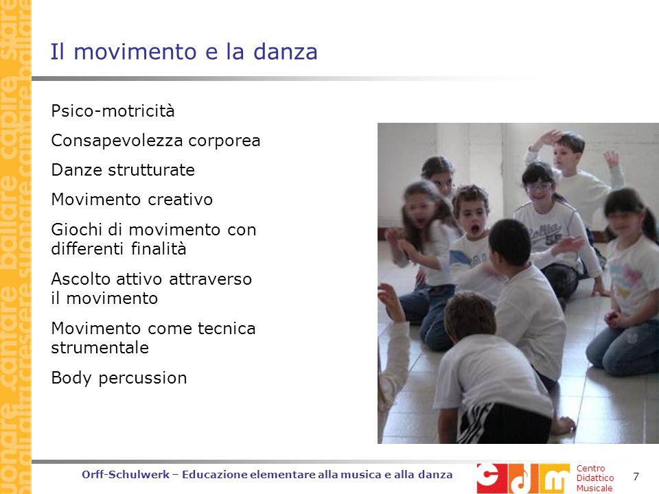 Il movimento e la danza Psico-motricità Consapevolezza corporea