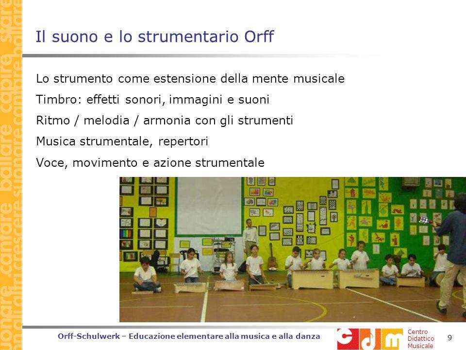 Il suono e lo strumentario Orff