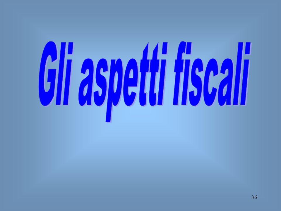 Gli aspetti fiscali
