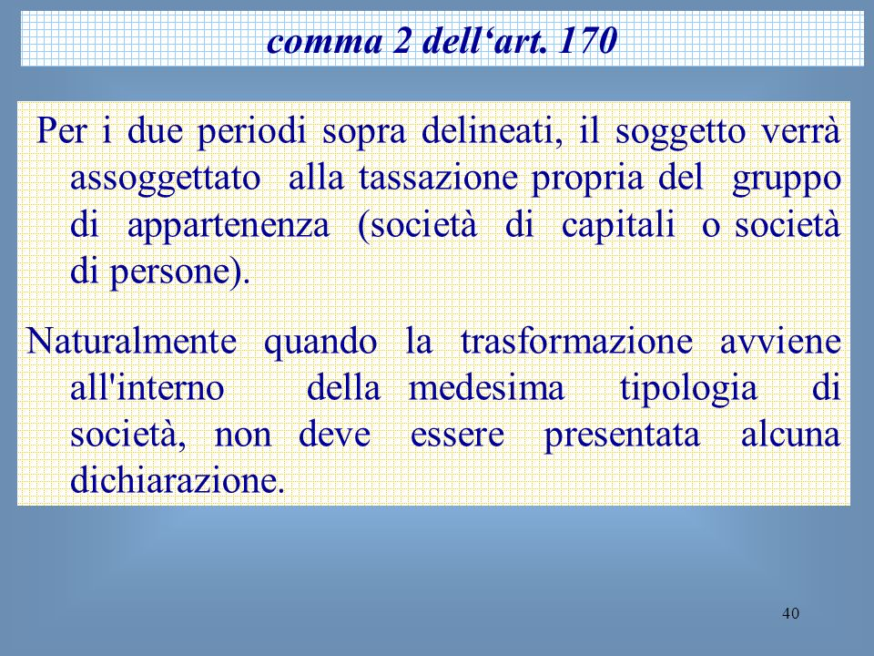 comma 2 dell'art. 170