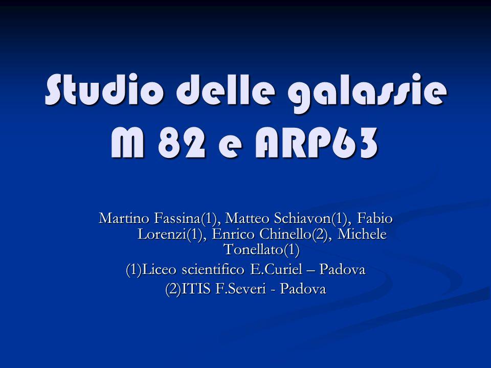 Studio delle galassie M 82 e ARP63