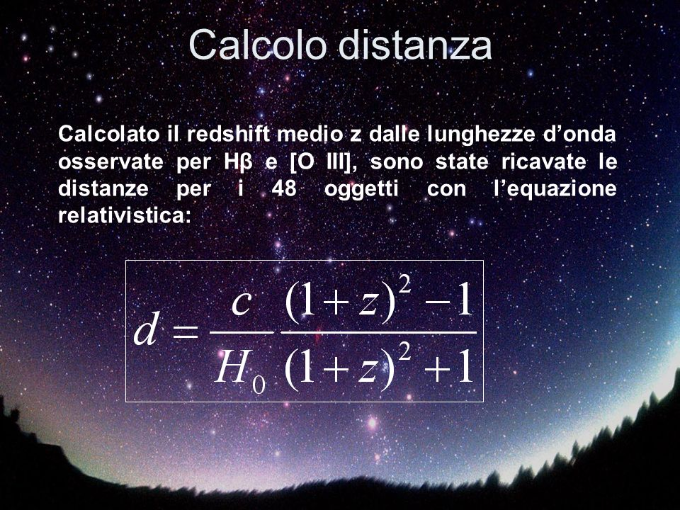 Calcolo distanza