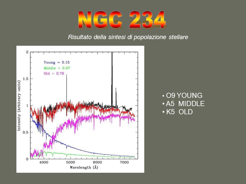 Risultato della sintesi di popolazione stellare