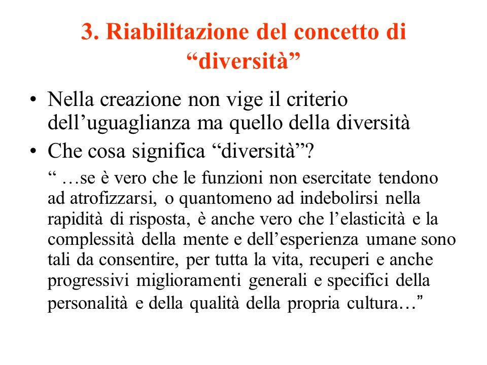 3. Riabilitazione del concetto di diversità
