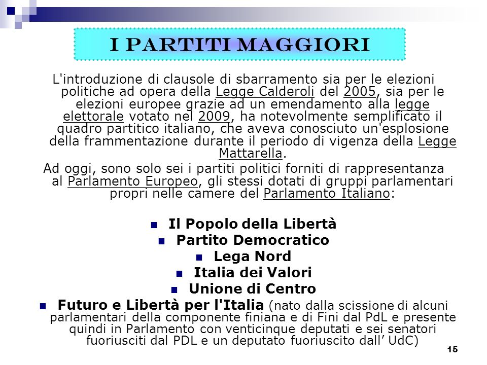 Storia dei partiti politici in italia ppt video online for Oggi in parlamento italiano