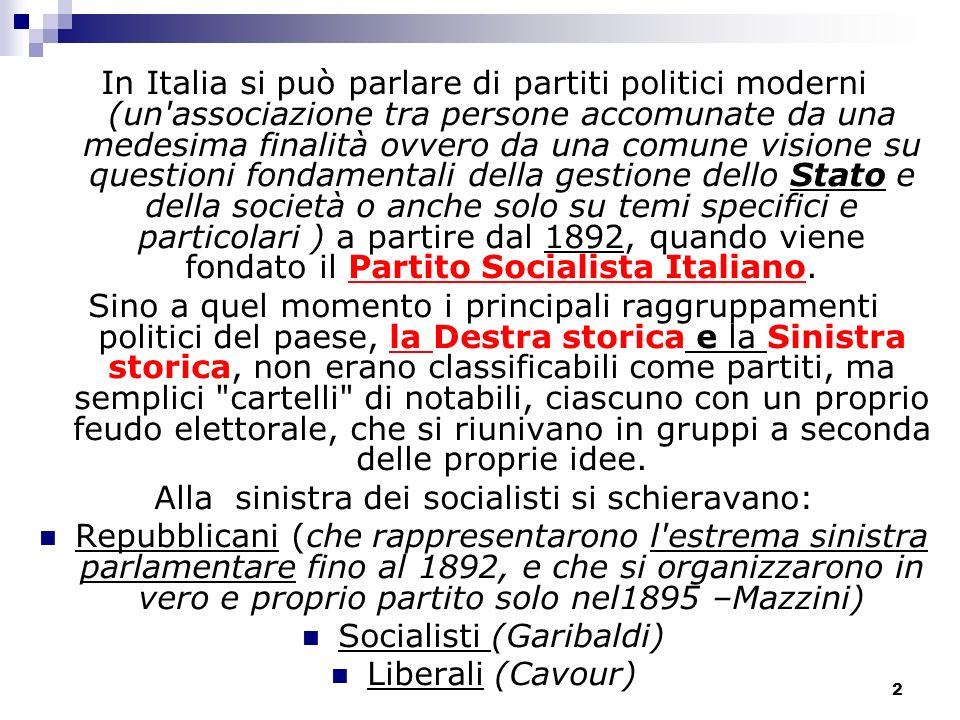 Storia dei partiti politici in italia ppt video online for Politici di destra nomi