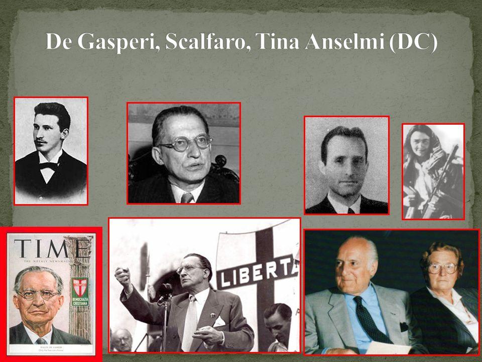 De Gasperi, Scalfaro, Tina Anselmi (DC)