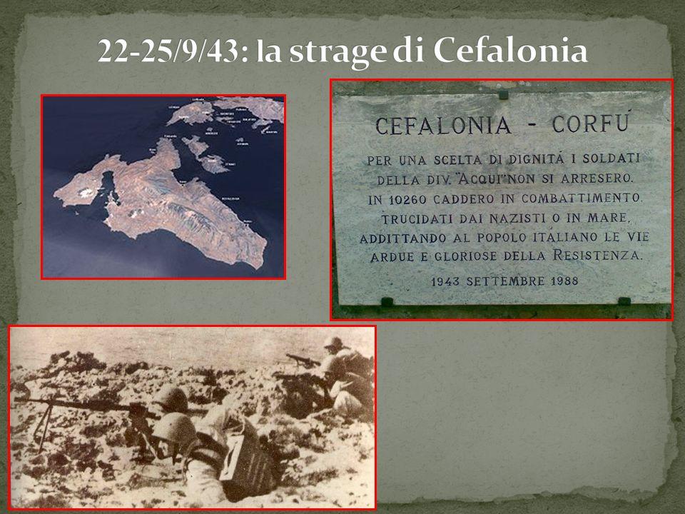 22-25/9/43: la strage di Cefalonia