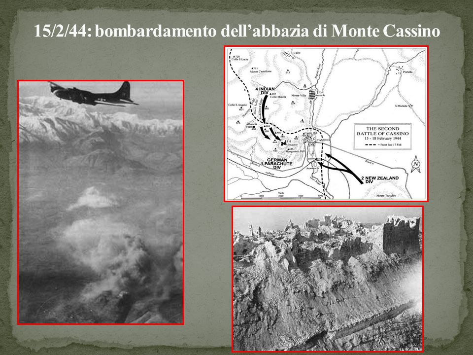 15/2/44: bombardamento dell'abbazia di Monte Cassino