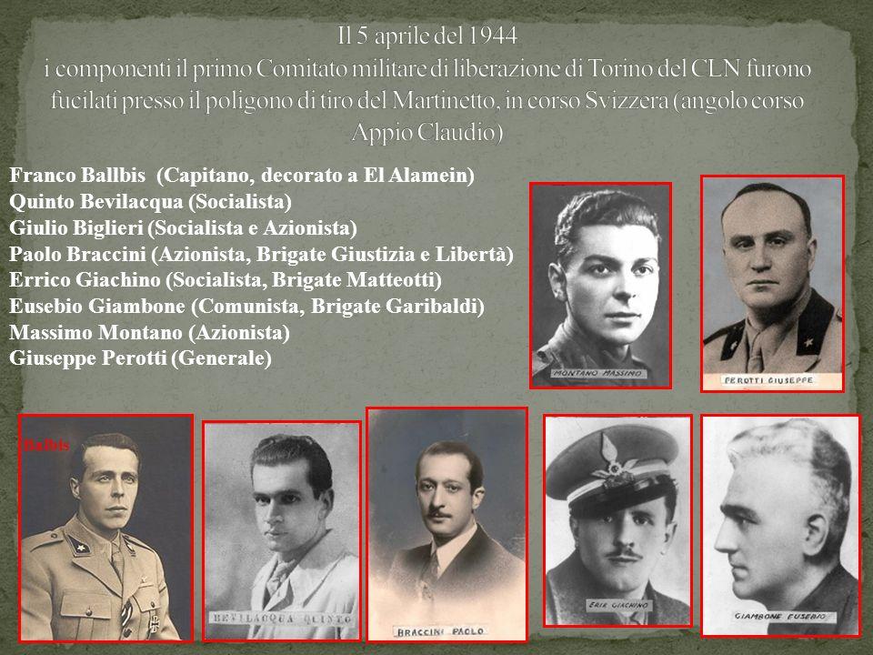 Il 5 aprile del 1944 i componenti il primo Comitato militare di liberazione di Torino del CLN furono fucilati presso il poligono di tiro del Martinetto, in corso Svizzera (angolo corso Appio Claudio)