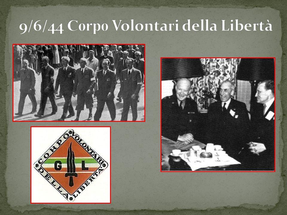 9/6/44 Corpo Volontari della Libertà