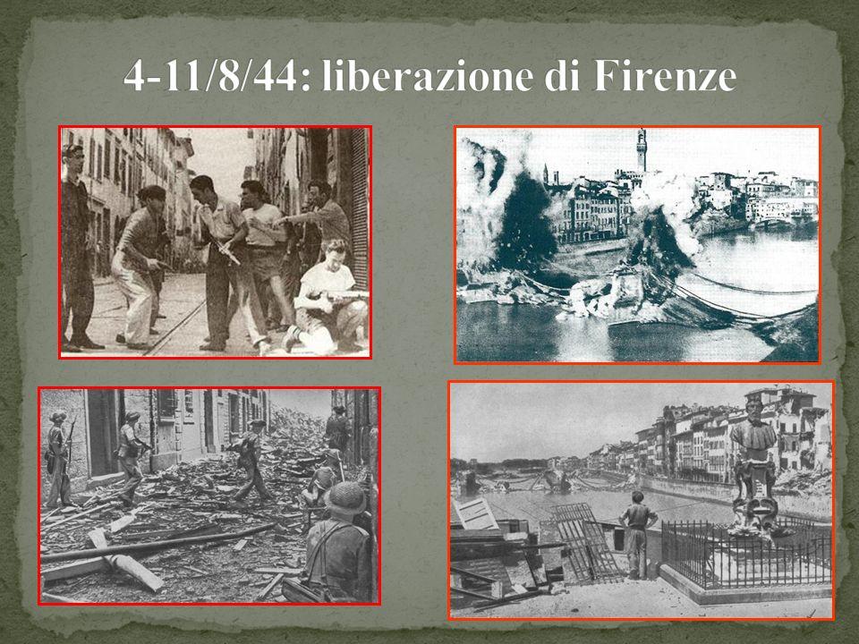 4-11/8/44: liberazione di Firenze