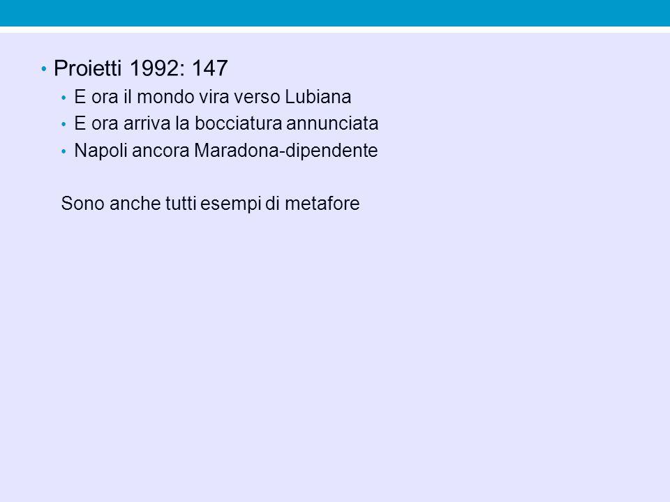 Proietti 1992: 147 E ora il mondo vira verso Lubiana