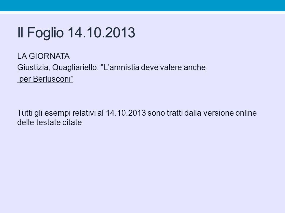 Il Foglio 14.10.2013