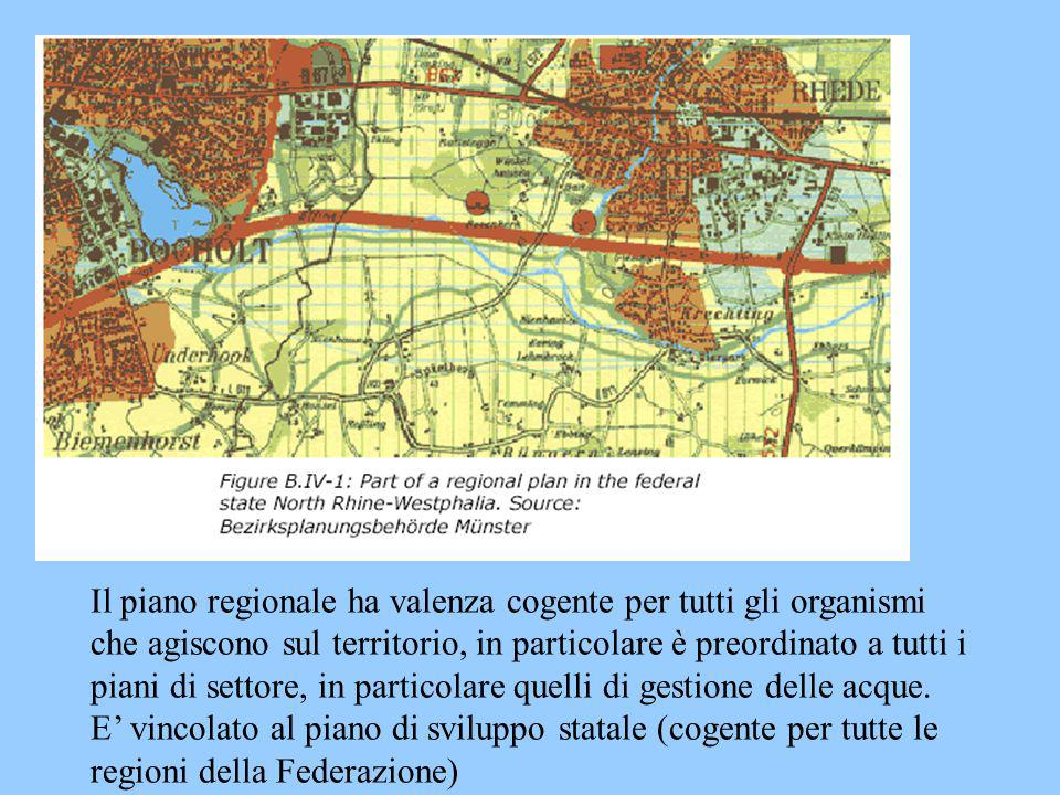Il piano regionale ha valenza cogente per tutti gli organismi che agiscono sul territorio, in particolare è preordinato a tutti i piani di settore, in particolare quelli di gestione delle acque.