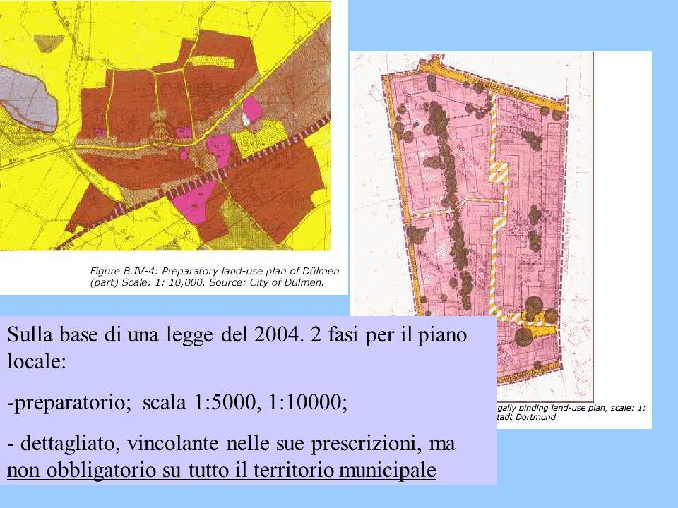 Sulla base di una legge del 2004. 2 fasi per il piano locale: