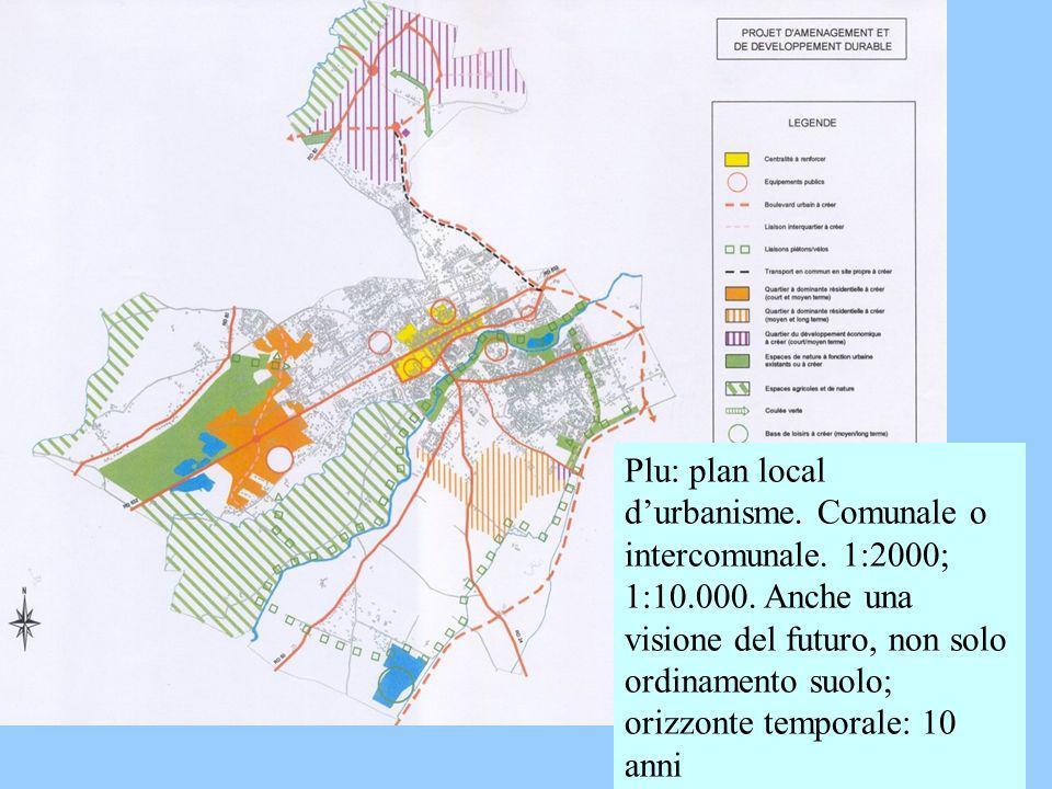 Plu: plan local d'urbanisme. Comunale o intercomunale. 1:2000; 1:10