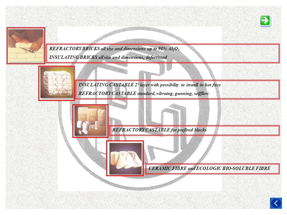 REFRACTORY BRICKS all size and dimensions up to 98% Al2O3