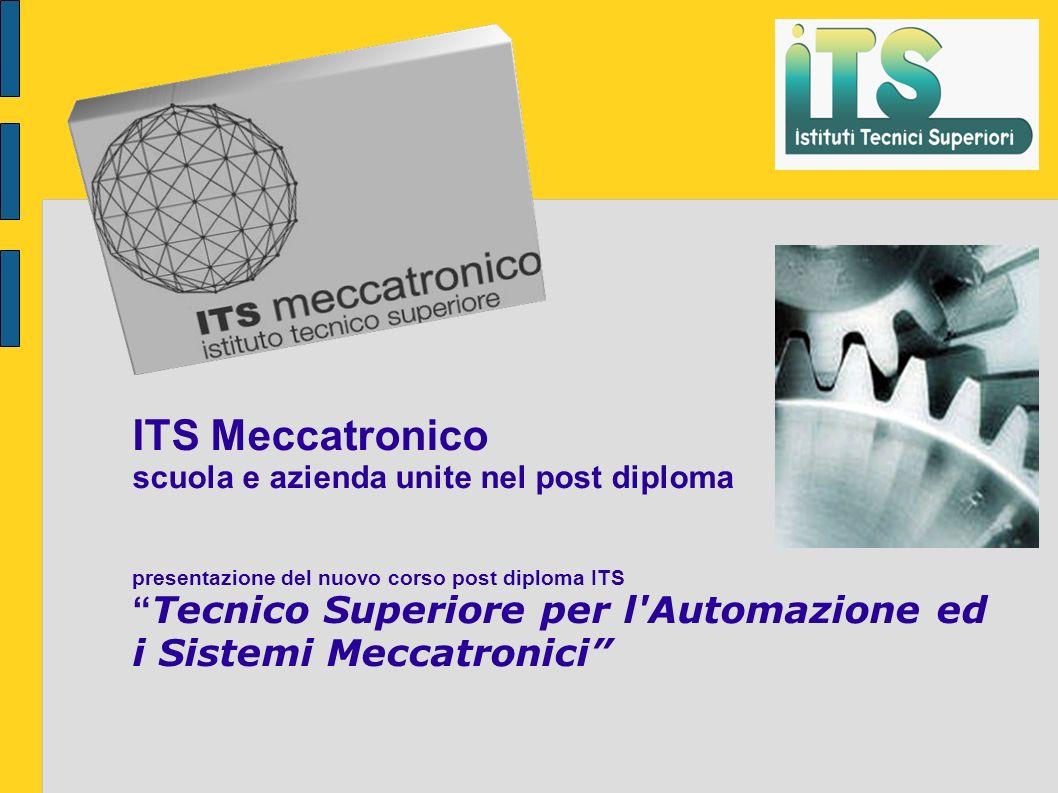 ITS Meccatronico scuola e azienda unite nel post diploma presentazione del nuovo corso post diploma ITS Tecnico Superiore per l Automazione ed i Sistemi Meccatronici