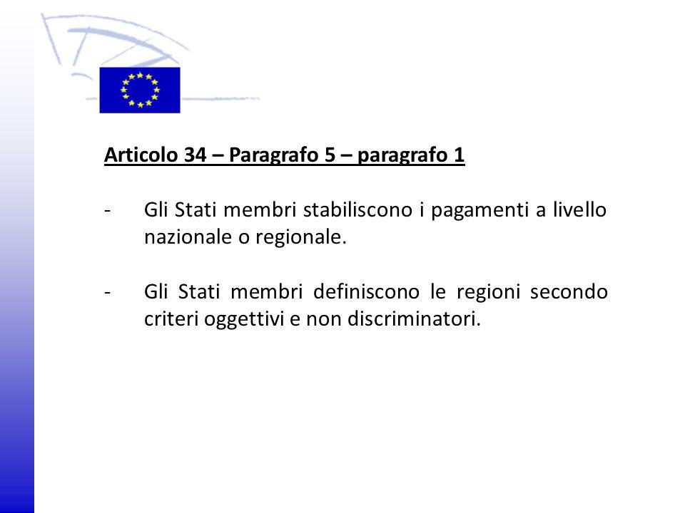 Articolo 34 – Paragrafo 5 – paragrafo 1