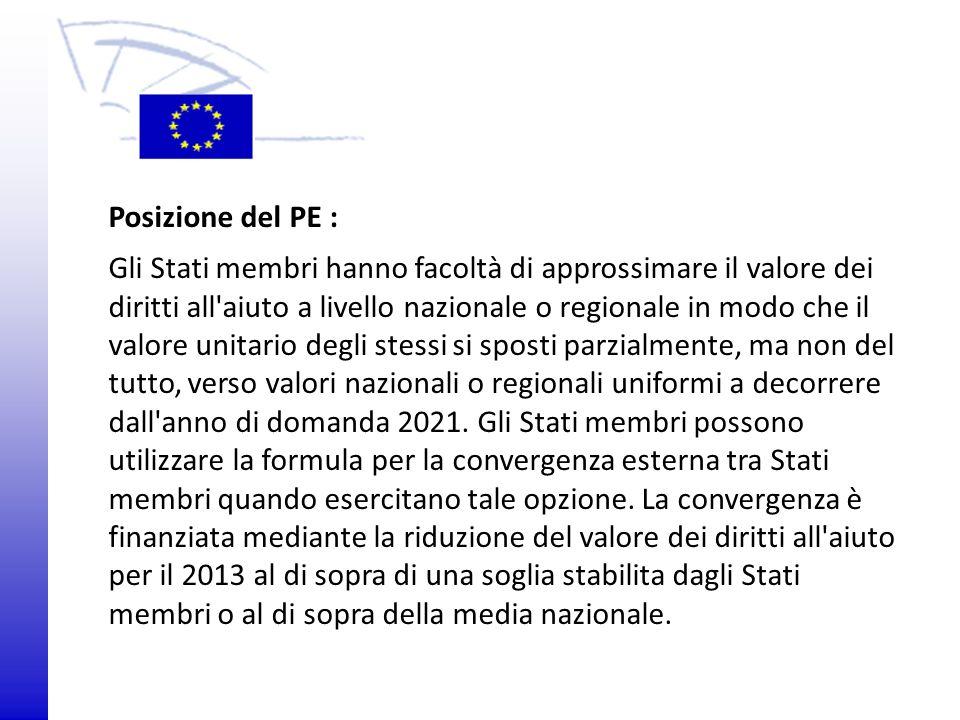 Posizione del PE :