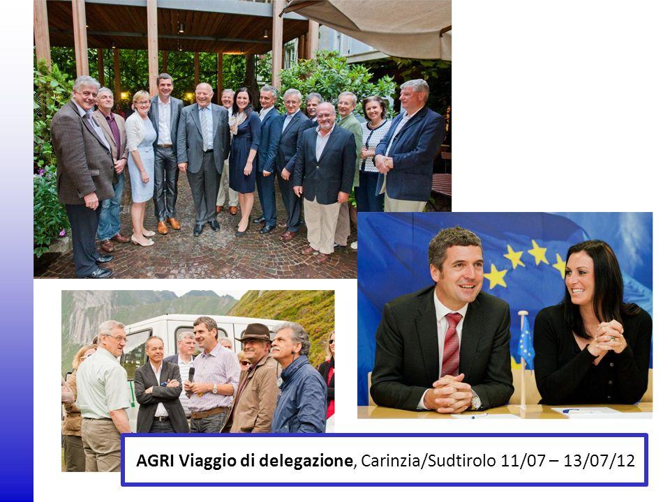 AGRI Viaggio di delegazione, Carinzia/Sudtirolo 11/07 – 13/07/12