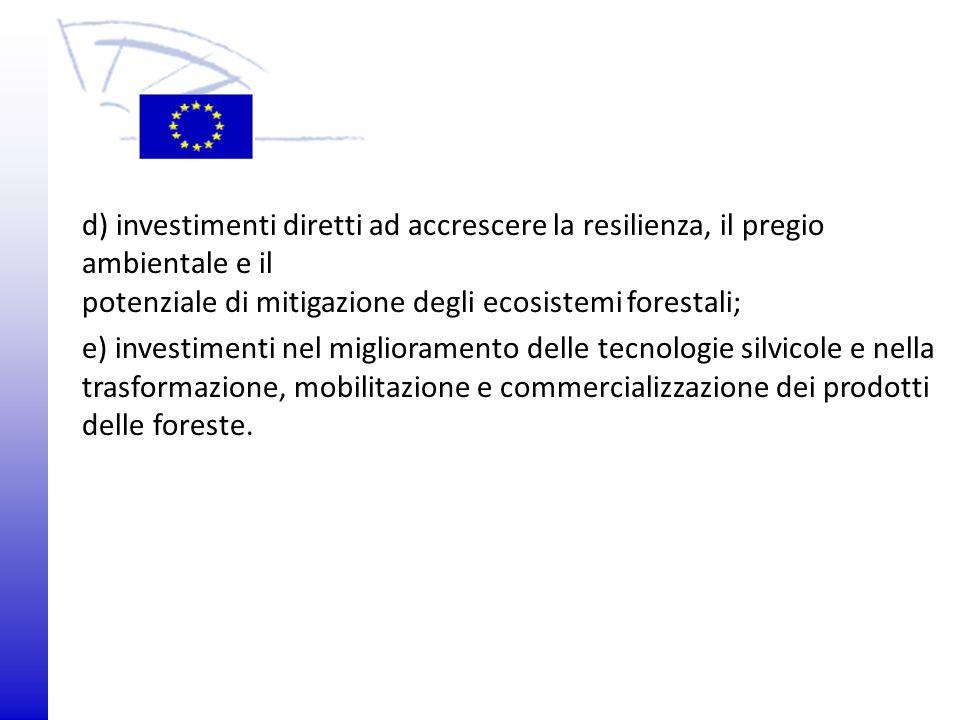 potenziale di mitigazione degli ecosistemi forestali;