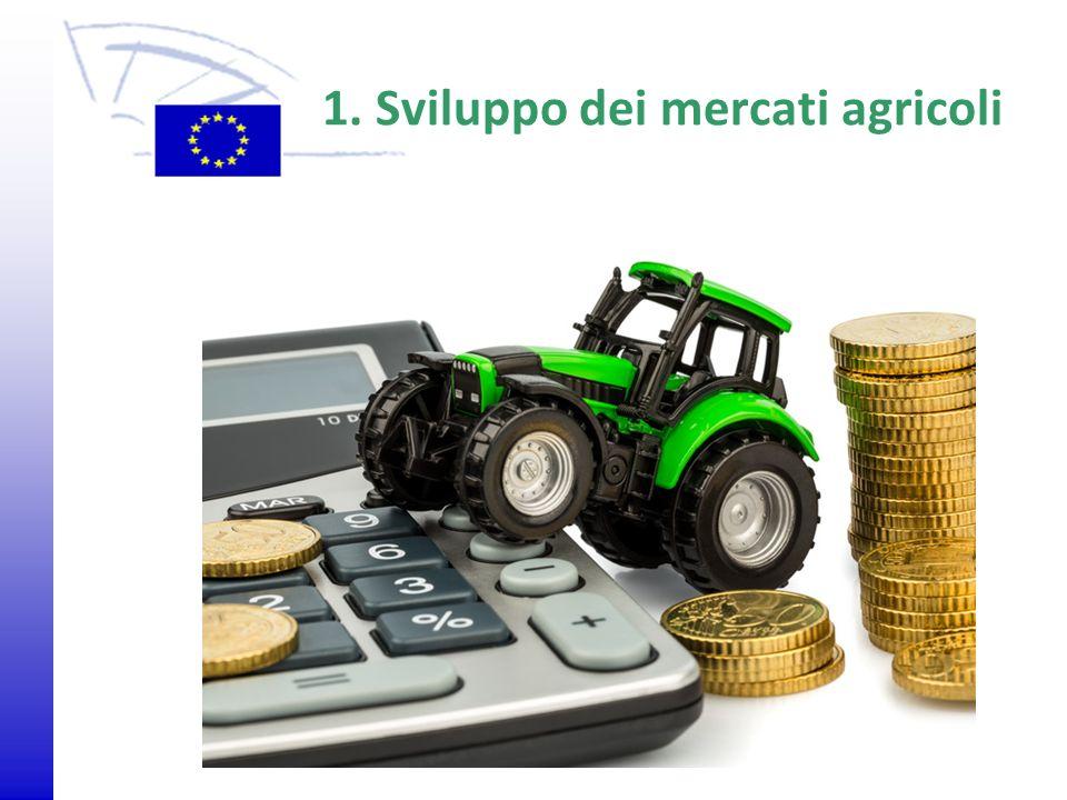 1. Sviluppo dei mercati agricoli