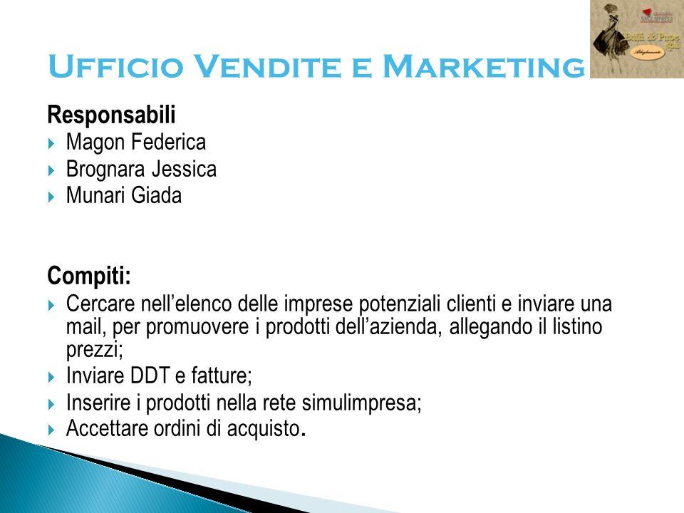 Ufficio Vendite e Marketing