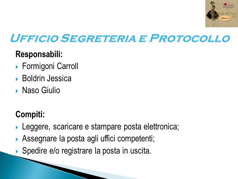 Ufficio Segreteria e Protocollo