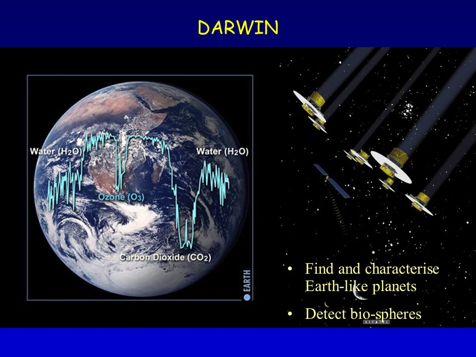 DARWIN Find and characterise Earth-like planets Detect bio-spheres