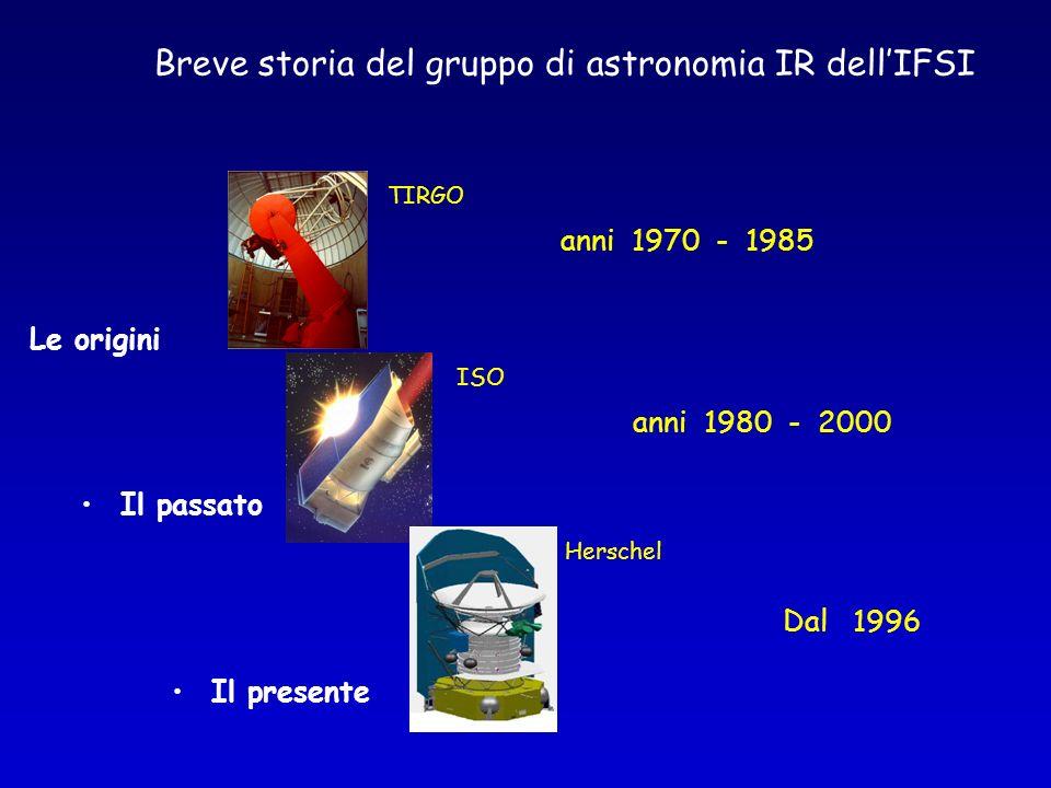 Breve storia del gruppo di astronomia IR dell'IFSI