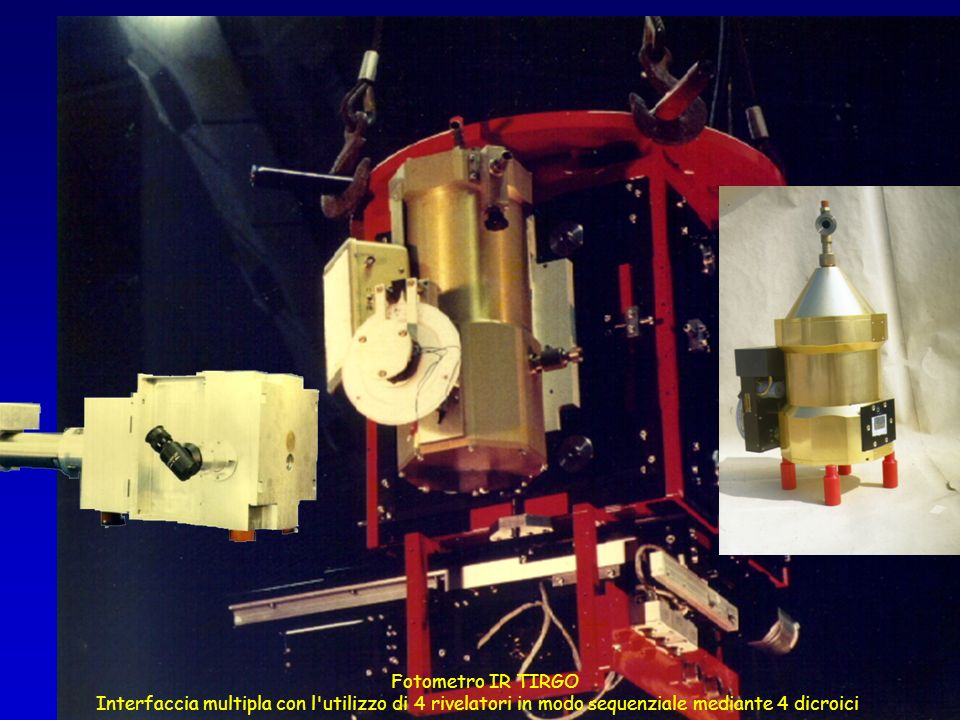 Fotometro IR TIRGO Interfaccia multipla con l utilizzo di 4 rivelatori in modo sequenziale mediante 4 dicroici.