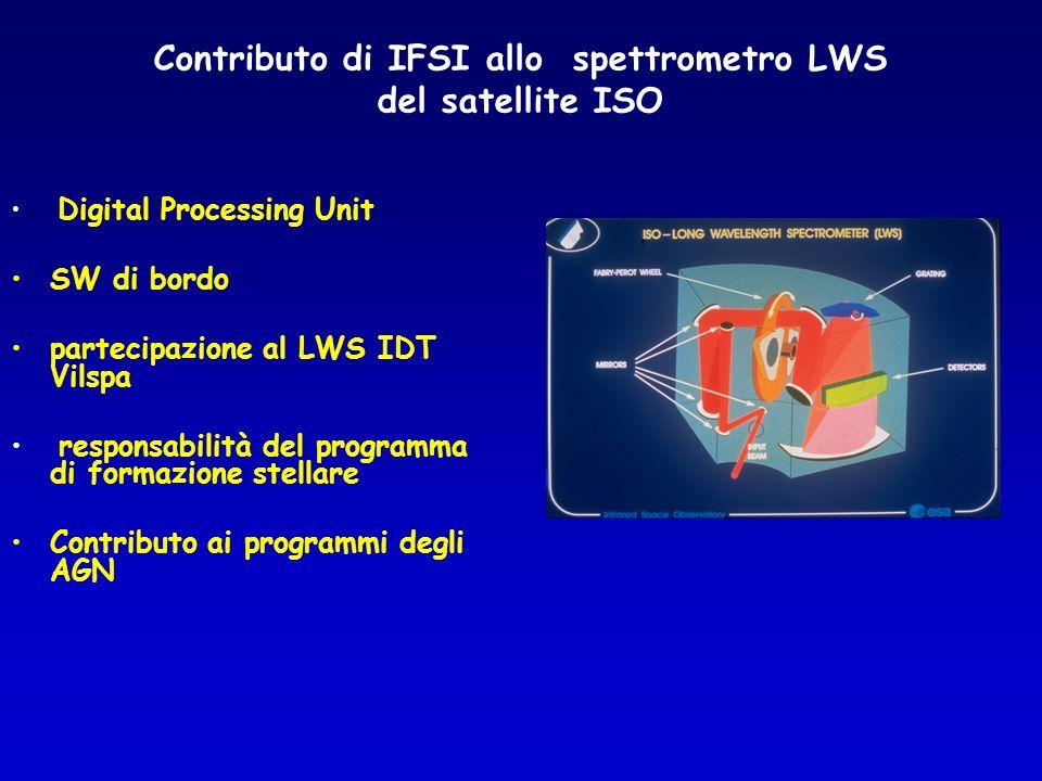 Contributo di IFSI allo spettrometro LWS del satellite ISO
