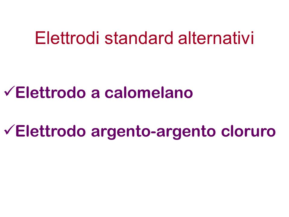 Elettrodi standard alternativi