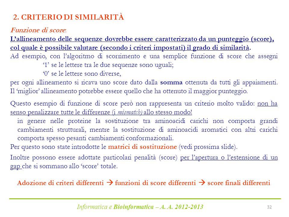 2. CRITERIO DI SIMILARITÀ
