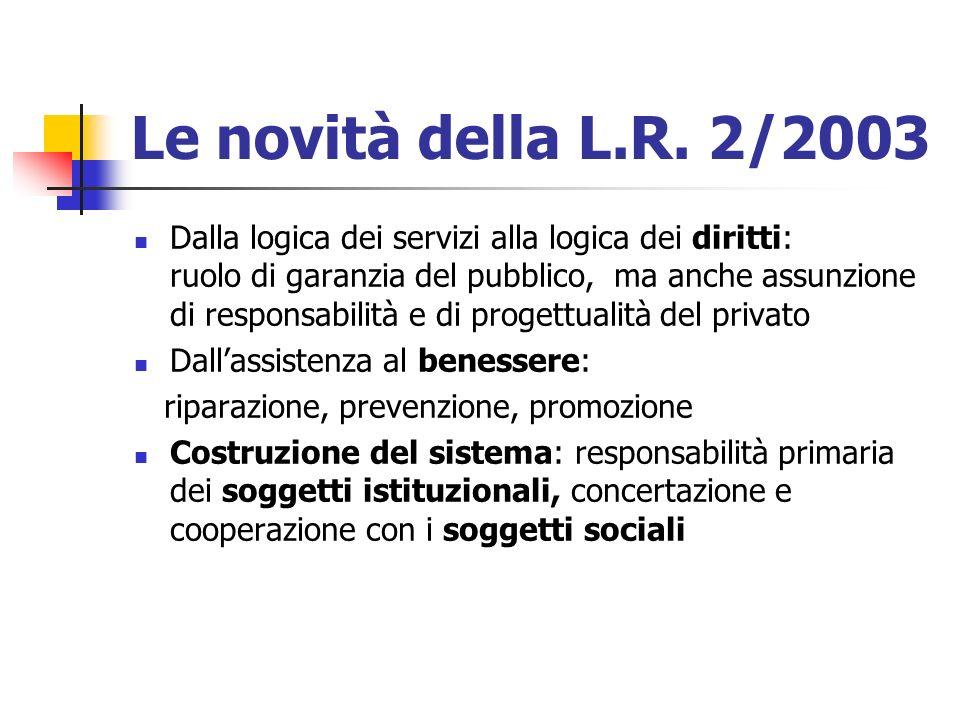 Le novità della L.R. 2/2003