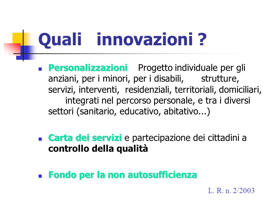 Quali innovazioni