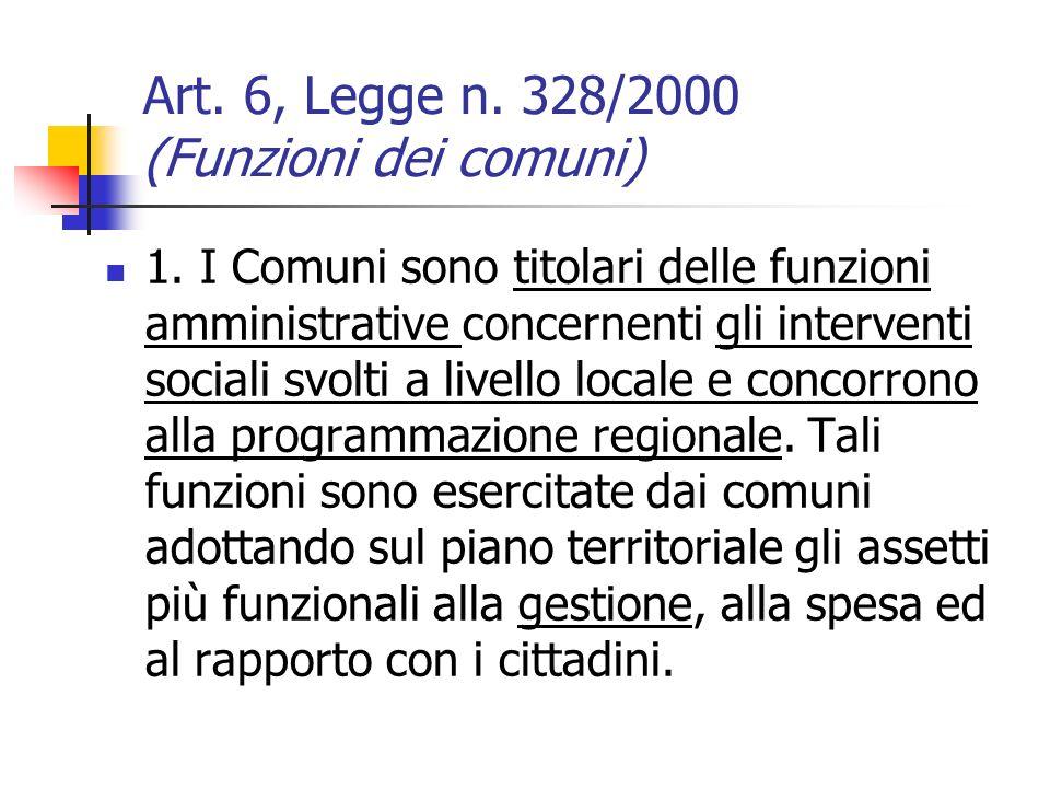 Art. 6, Legge n. 328/2000 (Funzioni dei comuni)