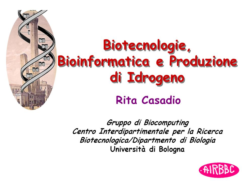 Biotecnologie, Bioinformatica e Produzione di Idrogeno