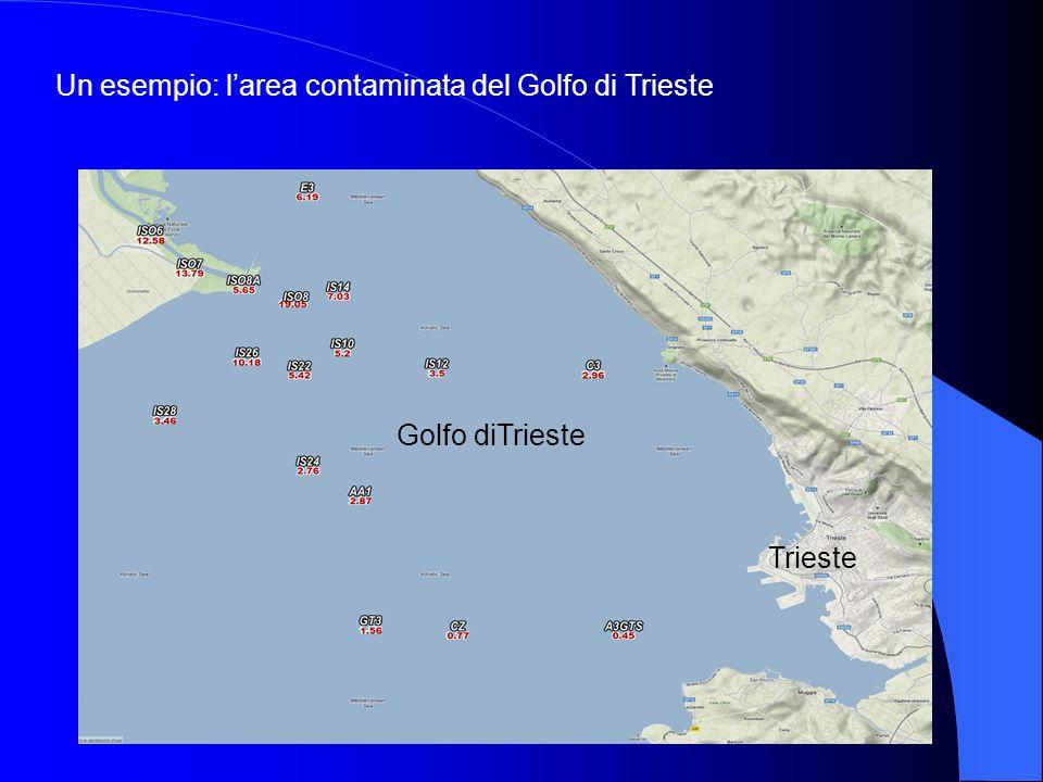 Un esempio: l'area contaminata del Golfo di Trieste