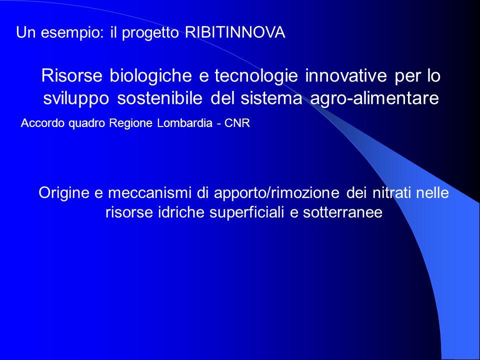 Un esempio: il progetto RIBITINNOVA