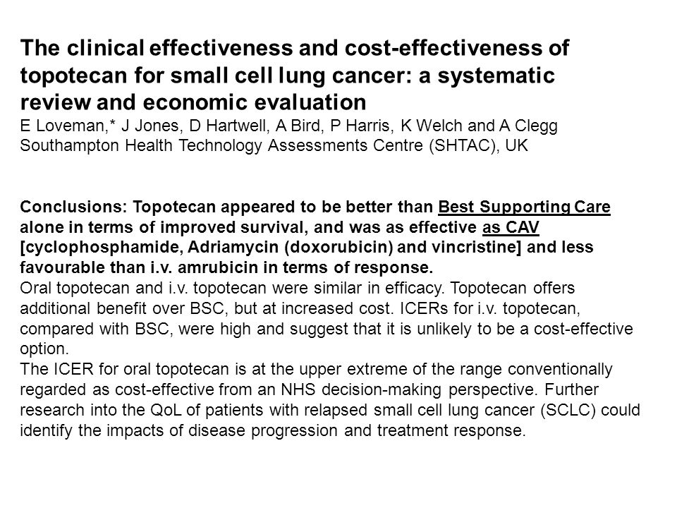 The clinical effectiveness and cost-effectiveness of