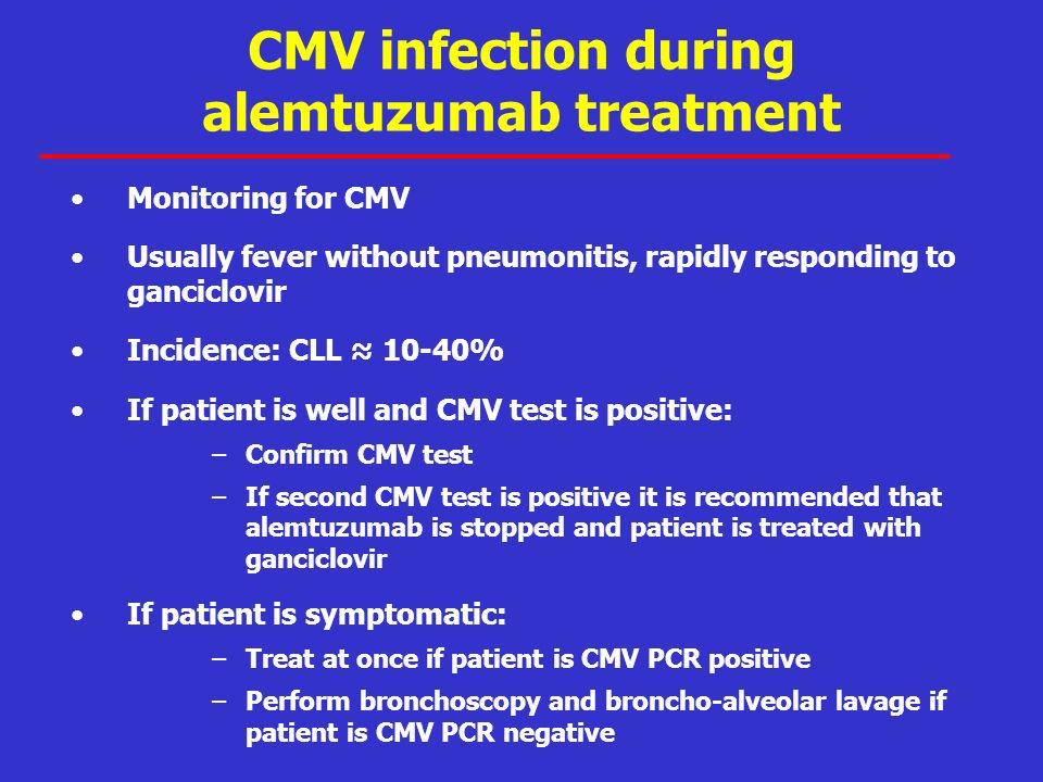 CMV infection during alemtuzumab treatment